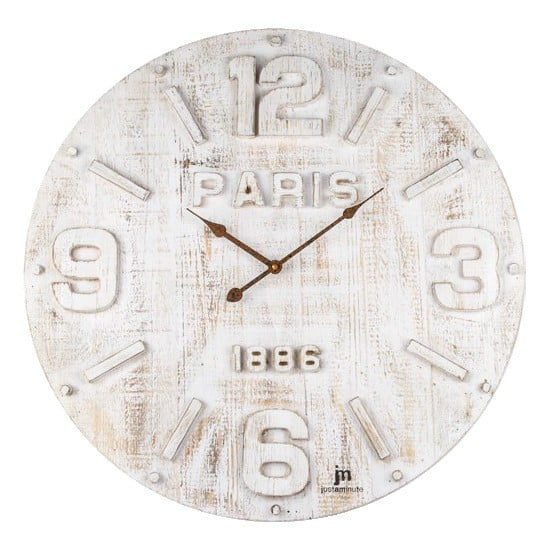 Design shabby chic orologio provenzale bianco jm paris for Orologio shabby chic